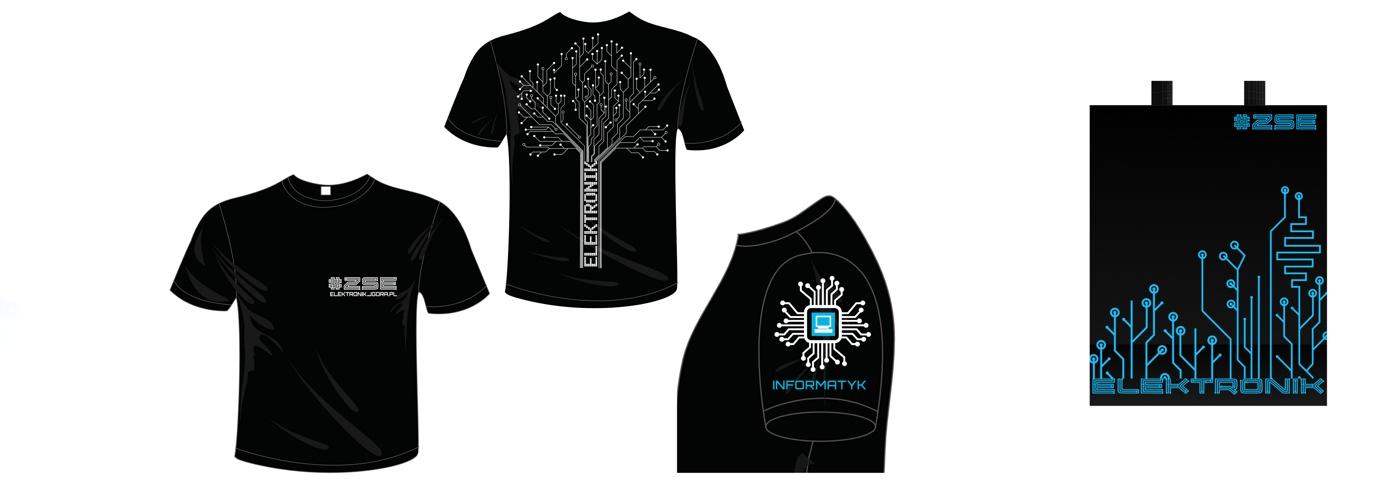 Koszulki, bluzy, torby z logo ZSE